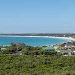 Die Bucht von Beachport mit dem türkiesblauen Wasser.